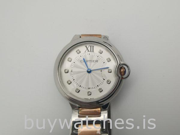 Cartier We902031 Ballon Bleu 36mm Steel Silver Dial Automatic Watch