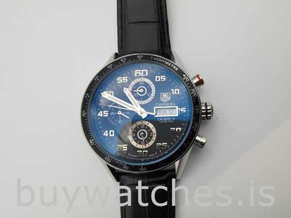 TAG Heuer Carrera CV2A1R.FC6235 Round 43mm Men's Black Automatic Watch