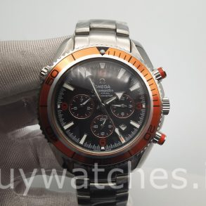 Omega Seamaster Planet Ocean 2218.50.00 Black Dial Mens Automatic Watch