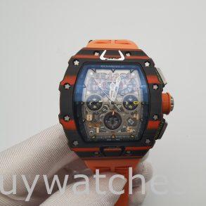 Richard Mille RM11-03 Unisex 44mm Carbon Case Rubber Automatic Watch