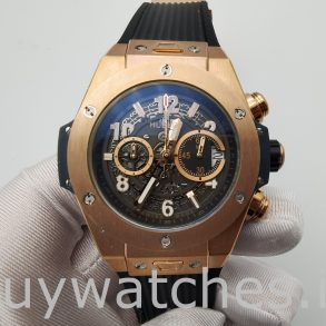 Hublot Big Bang 411.OX.1180.RX 45mm Black Hollow Section Automatic Watch
