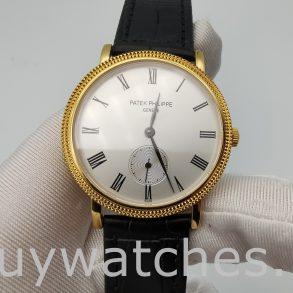 Patek Philippe Calatrava 5119J-001 Men's White Dial 36mm Hand Wind Watch