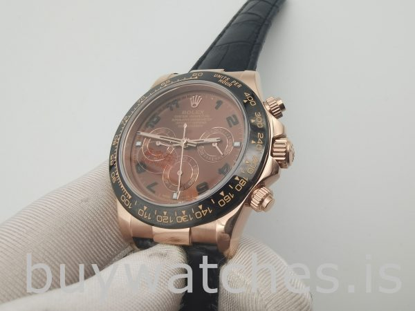 Rolex Daytona 116515 Leather 40mm Chocolate Dial Automatic Watch