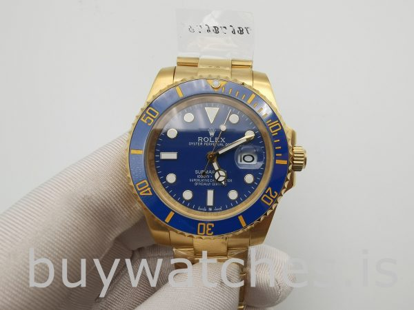 Rolex Submariner 116618LB Men's 40mm Blue Dial Automatic Watch