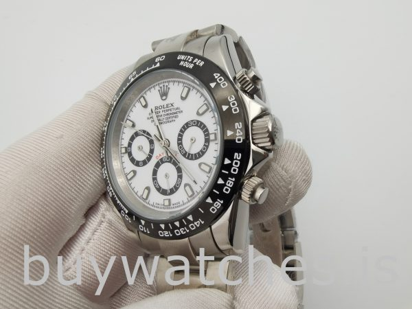 Rolex Daytona 116500 Men's 40mm White Dial Automatic 4130 Watch