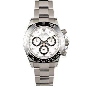 Rolex Daytona 116500 Men's 40mm White Dial Automatic 4130 Watch