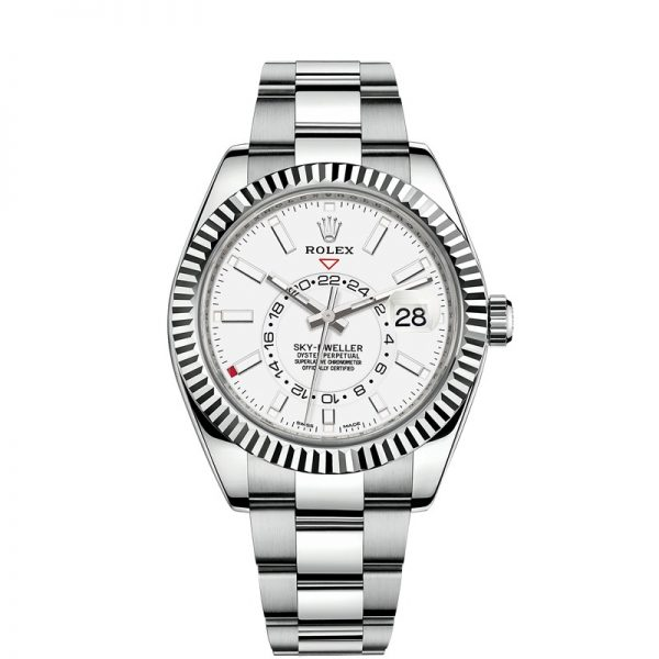 Rolex Sky-Dweller 326934 White Dial Mens 42mm Steel Automatic Watch