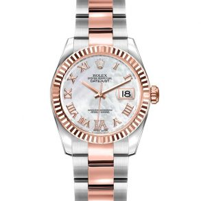 Rolex Datejust 179171 Lady Gray 26mm Steel Rose Gold Automatic Watch