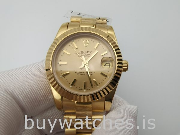 Rolex Datejust 68278 Champagne Dial Ladys 31mm Automatic Watch