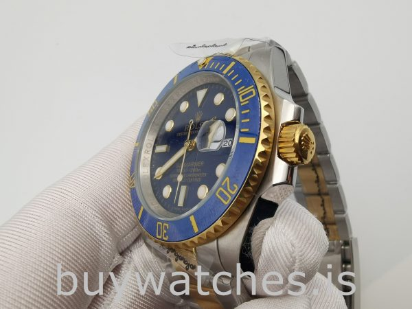Rolex Submariner 116613LB Round Gold Stainless Steel 40mm Automatic Watch