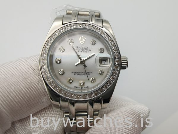 Rolex Datejust 80299 White Gold Dial Ladys 29mm Automatic Watch