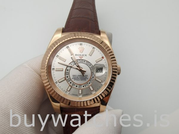Rolex Sky-Dweller 326135 White 42mm Brown Solid Automatic Watch