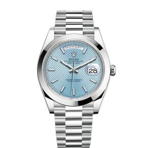 Rolex Day-Date Blue Stk Smth Men 40mm 3255 Automatic Watch
