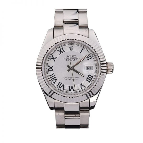 Rolex Datejust 4770 White Dial Men 41mm Roman Numeral Automatic Watch