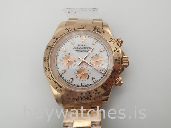 Rolex Daytona 116505 Men's 40mm Rose Gold Dial Automatic Watch