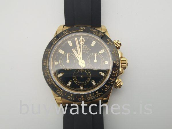 Rolex Cosmograph Daytona Mens Black Dial 40mm Automatic Watch