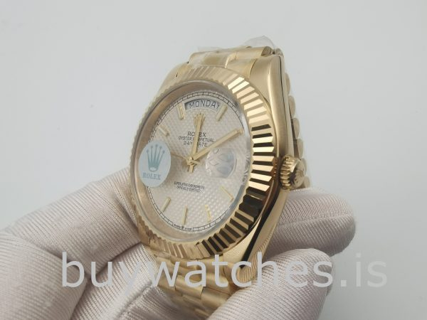 Rolex Day-Date 228238 Sapphire 40mm Yellow Gold Automatic Watch